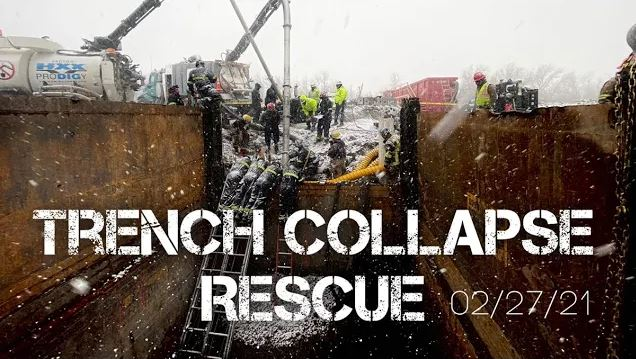 trench collapse rescue 02/27/21